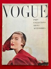 British VOGUE, October 1949. Cover: Frances McLauhglin