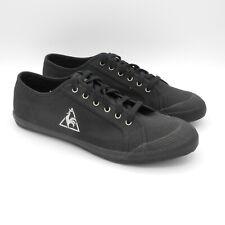 Le coq sportif Deauville 46 NUOVE scarpe sportive sneakers Uomo in tessuto nero