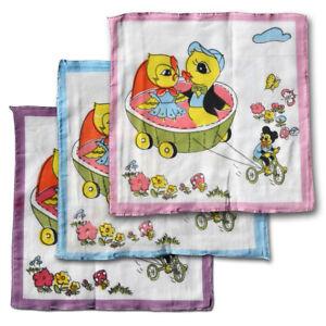10er Pack Kindertaschentücher Stofftaschentücher Taschentuch Kinder Tiere