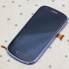 Blau LCD Display Für Samsung Galaxy S3 MINI i8190 Touchscreen Frontglas Rahmen