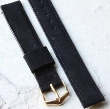 Stitched & lightly padded Suede 16mm vintage watch strap JB Champion USA 1950/60