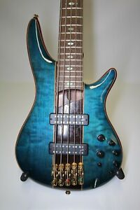 Ibanez SR2405W Premium Series 5-String Electric Bass Guitar Caribbean Green