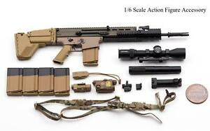 1/6 Easy Simple 26042S Army SF Sniper MK 17 SCAR-H Style Rifle Set