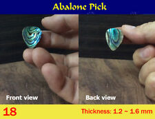 Free Shipping, Green Abalone Pick (1 pcs) (18)