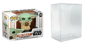 Funko Pop! Star Wars The Mandalorian The Child w/ Cup # 378 & Protector Case NEW