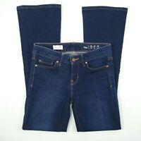 GAP 1969 Perfect Bootcut Dark Blue Stretch Denim Jeans Women's Size 24 R W27