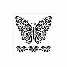 """Imagination Crafts ~ Stencil Template ~ 15x15 cm / 6x6"""" ~ Butterfly with Love"""
