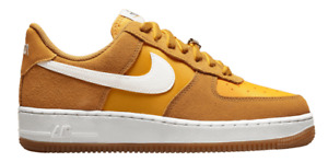 WMNS NIKE AIR FORCE 1 FIRST USE UIVERSITY GOLD SUEDE DA8302-700 SZ 11.5 AND 12