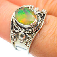 Ethiopian Opal 925 Sterling Silver Ring Size 7.75 Ana Co Jewelry R42048F