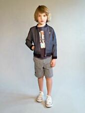 NO ADDED SUGAR DESIGNER BOYS NAVY STRIPE TROUSERS OR SHORTS BNWT