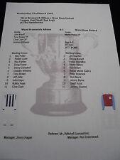 1965-66 League Cup Final (2nd Leg) West Bromwich Alb v West Ham Utd matchsheet