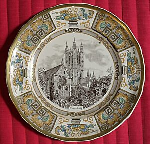 Masons Chaucer's Christmas plate 1986 - Canterbury Cathederal