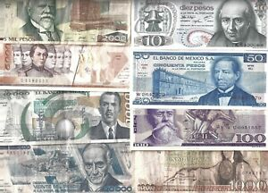Mexico 🎇 8 banknotes 🎇 Collections & Lots  #998002
