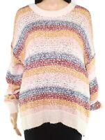 Madewell Womens Sweater White Ivory Size Large L Striped Baez Pullover $110 137
