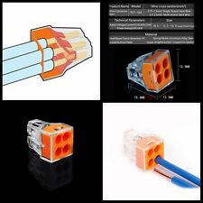 HOT 10PCS 4 pins Push Electrical Cable Connector Wire Block Terminal 0.75-2.5mm