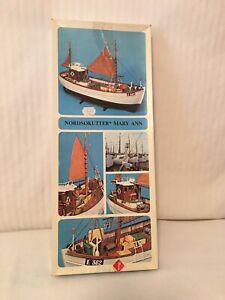 RARE-Billing Boats-Nordsokutter/Mary Ann-wooden model boat kit # 472