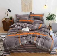 3D Gray Square ZHUA2050 Bed Pillowcases Quilt Duvet Cover Set Queen King Zoe