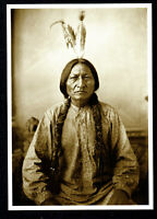 ⫸ 972 Postcard Sitting Bull, Sioux Leader – 1884  Photo by David Barry – NEW
