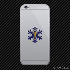 Indiana Snowflake Cell Phone Sticker Mobile IN snow flake snowboard skiing skii