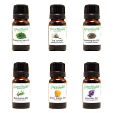 GreenHealth Top 6 100% Essential Oil Set (6x10ml Essential Oils) Free Shipping