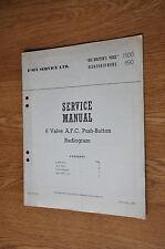 HMV 1500  Marconiphone 890 6 Valve Radiogram Genuine Service Manual