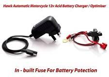 Hawk Motorcycle Motorbike  Battery Charger Optimiser UK, EU & USA Plug 12v