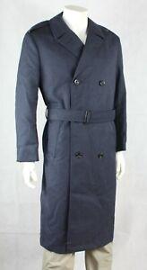 "Genuine Surplus British RAF Raincoat Overcoat Trench Coat Blue Grey 40"" Reg (231"