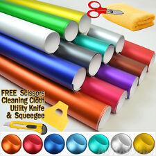Premium Satin Matte Chrome Metallic Vinyl Film Wrap Sticker Air Bubble Free
