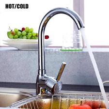 Aluminio Grifo Agua Caliente/Fría 360° Giratorio Mezclador Lavabo Cuenca Cocina