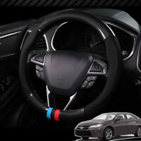 For Toyota Camry Steering Wheel Cover Anti-Slip Carbon Fiber Top PVC Leather