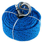 Free Ship 100ft Blue Boat Anchor Rope For Electric Winches Break Strength 800lb