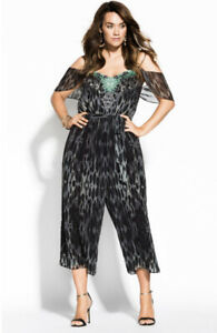 City Chic Morocco Jumpsuit Size XXL/24