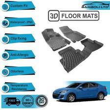 3D Molded Interior Car Molded Floor Mat for Mazda 3 2009-2012 (Black)