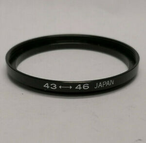 Quality Metal 43mm to 46mm Camera Filter Step Up Ring 43-46mm Japan