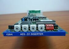 SNELL & WILCOX IQBAI 4 PAIRS AES/EBU AUDIO EMBEDDER CARD WITH REAR MODULE **