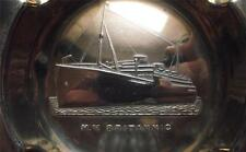 Old White Star Line ART DECO nave in rilievo MV BRITANNIC PIN / Ash Vassoio B