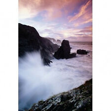 IRELAND - SURF AND ROCKY COAST POSTER - 24x36 SHRINK WRAPPED - TRAVEL OCEAN 4900