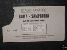 ROMA - SAMPDORIA TICKET BIGLIETTO 1996/97 SERIE A