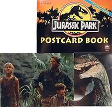 Vintage Jurassic Park Postcard Book  1992-Unpunched UNUSED!