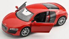 Livraison rapide AUDI r8 v10 rouge/red 1:34 env. 12 cm welly Modèle Auto NEUF & OVP