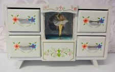 Vintage Wooden Music Box with Dancing Ballerina Jewelry Trinket Box WATCH VIDEO!