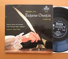 "LW 5338 Tchaikovsky Eugene Onegin Highlights Belgrade Opera Decca 10"" Mono NM/EX"