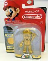 """RARE World of Nintendo 4"""" Gold Mario Action Figure"""