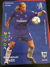 Football Champions -Emmanuel Petit - Chelsea - 2002-03 -