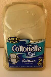 Kleenex Cottonelle Starter Pack Fresh Rollwipes Dispenser and 2 Moist Rolls New