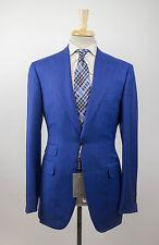 NWT CANALI 1934 'Travel' Blue Peak Lapels Wool 2 Button Suit Size 50/40 L $1995