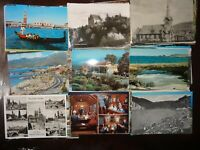 LOT OF 50 VINTAGE POSTCARDS ,1950s ~1960s  U.S.A  & FOREIGN ~ UNUSED CHROME ****