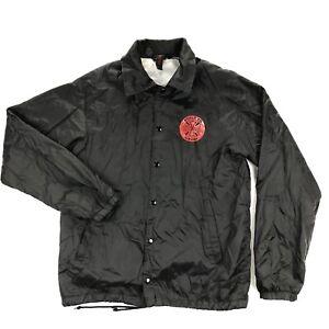 Independent Truck Company Mens Medium Black Skateboard Coach Windbreaker Jacket