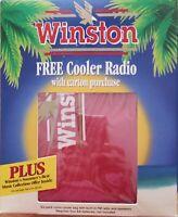 Vintage WINSTON 6-Pack Nylon Cooler Bag W/Built In FM Radio and Speaker Red New