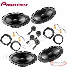 Car stereo front and rear 8 speakers kit for PIONEER Fiat Croma 2005-2014 with a